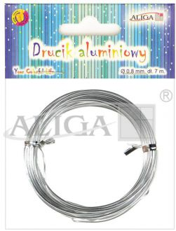 Aluminum wire DA-0807,0,8 mm/7 m.